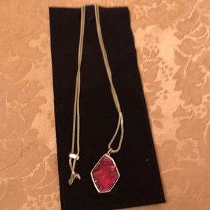 "Kendra Scott 32"" red pendant necklace"